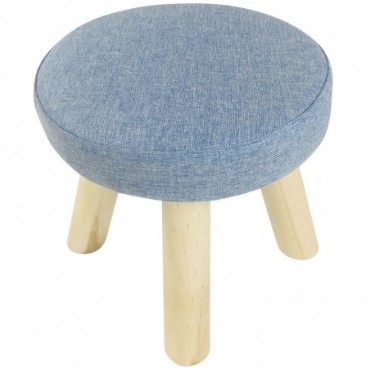 Petit tabouret bleu 29 cm