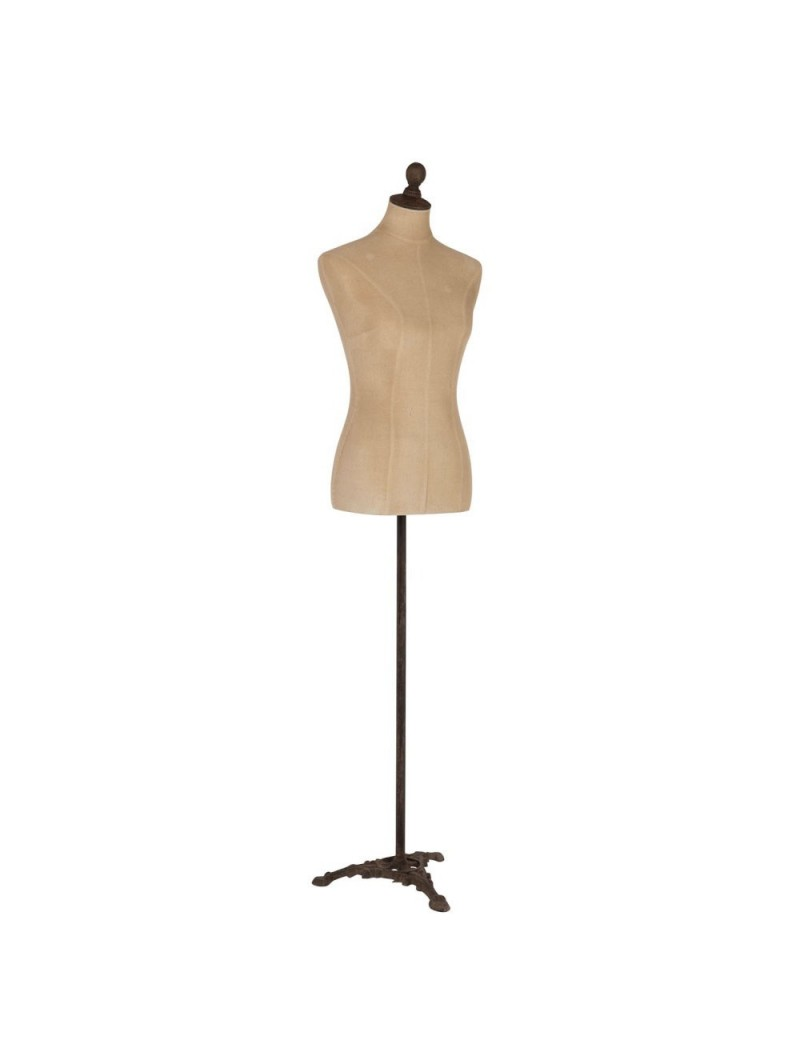 Mannequin Sur Pied Textile/Pvc/Metal Beige
