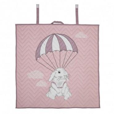 Couverture bébé rose coton