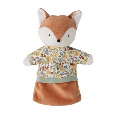 Marionnette à main Caveli marron polyester