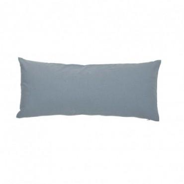 Coussin bleu coton