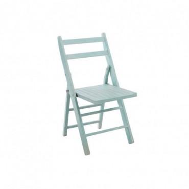Chaise pliante bois azur