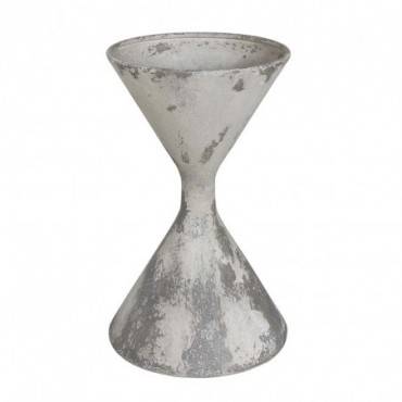 Pot de fleurs Folmer blanc métal
