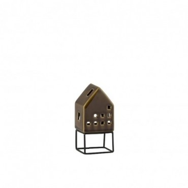 Maison Moderne Porcelaine Marron Small