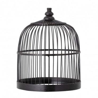 Cage à oiseaux Wed Deco noir bambou