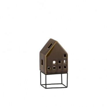 Maison Moderne Porcelaine Marron Medium