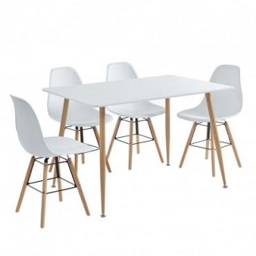 Kittos Ensemble Table à Manger + 4 Chaises