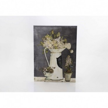 Toile 3 Pots Fleuris 75X100