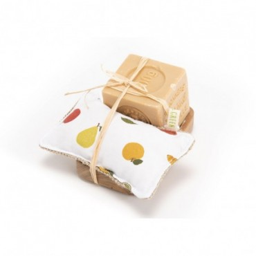 Kit Cuisine Éponge + Savon + Support
