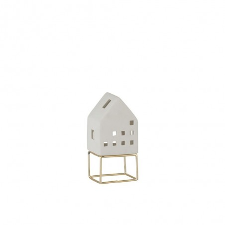 Maison Moderne Porcelaine Blanc/Or Small