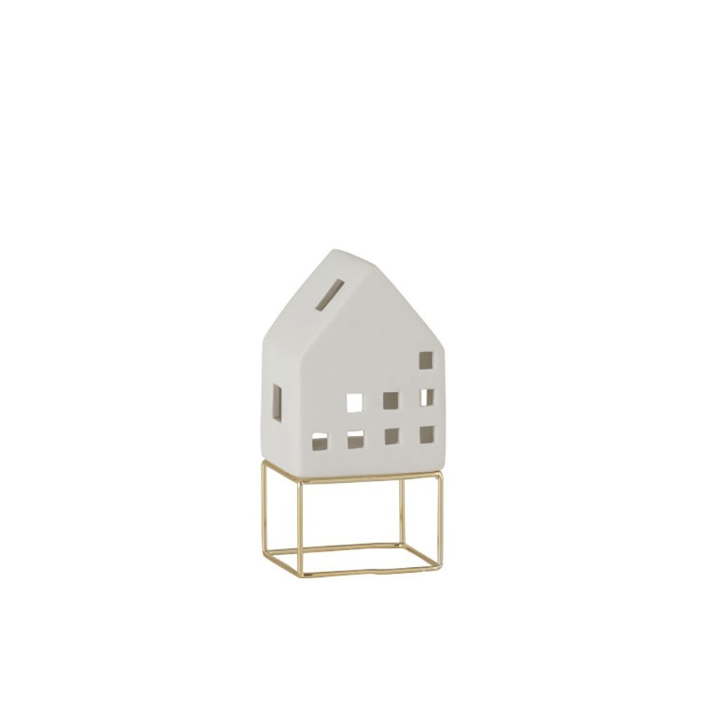 Maison Moderne Porcelaine Blanc/Or Medium