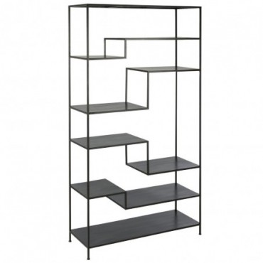Etagere 6 etages metal noir