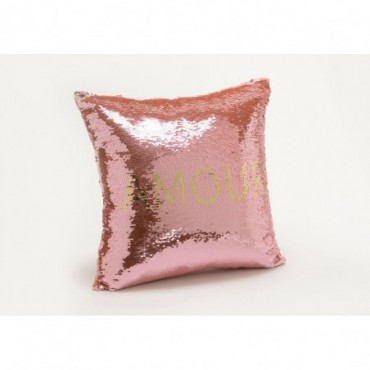 Coussin Sequins Amour 40X40