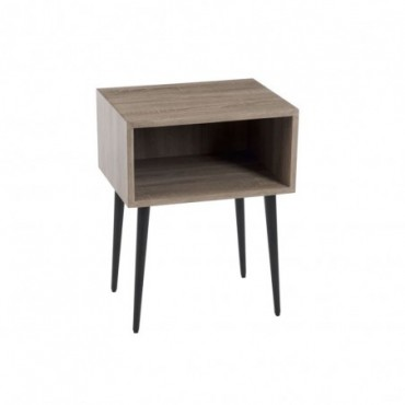 Table gigogne carree bois naturel
