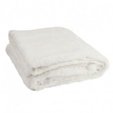 Plaid cutie polyester blanc