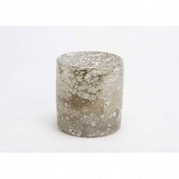 Cache-Pot Cosmos Hauteur 15 Cm Diamètre 14 Cm Champagne