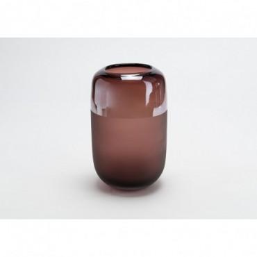 Vase Alcamo Hauteur 26 Cm Diamètre 16 Cm Bordeaux