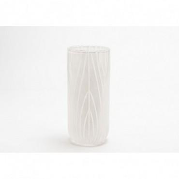 Vase Austral Hauteur 28 Cm Diamètre 12 Cm Blanc