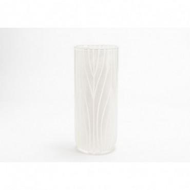 Vase Austral Hauteur 35 Cm Diamètre 14 Cm Blanc