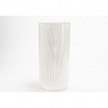 Vase Austral Hauteur 42 Cm Diamètre 20 Cm Blanc
