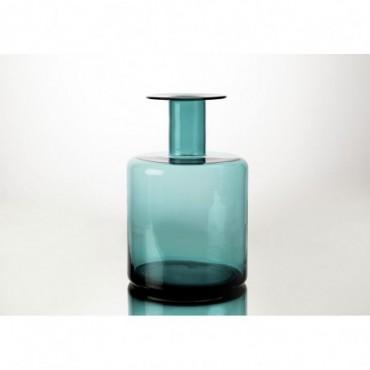 Vase Bouteille Design Hauteur 40 Cm Vert Cobalt