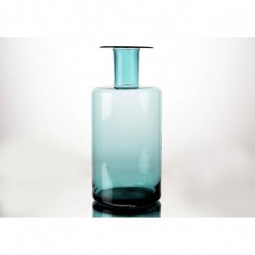 Vase Bouteille Design Hauteur 50 Cm Vert Cobalt