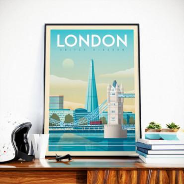 Affiche Londres Tower bridge - 50x70 cm