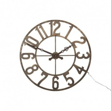 Horloge chiffres romains rond fer forge marron small