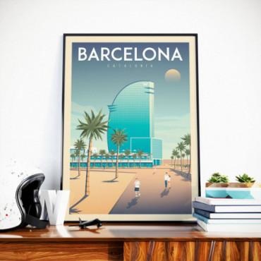 Affiche Barcelone Hotel W - 50x70 cm