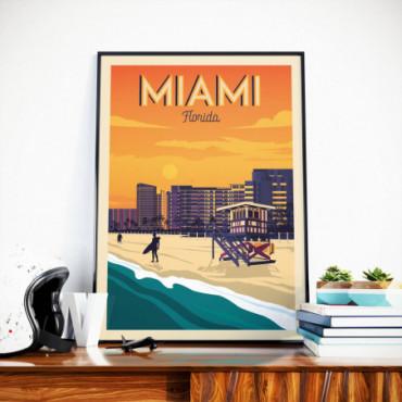 Affiche Miami - 50x70 cm