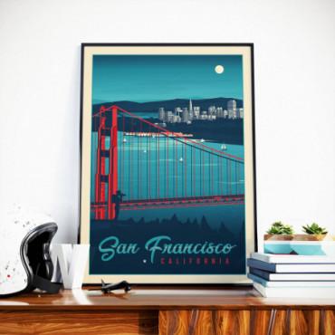Affiche San Francisco by night - 50x70 cm