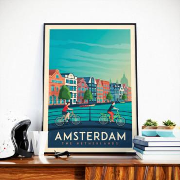 Affiche Amsterdam - 50x70 cm