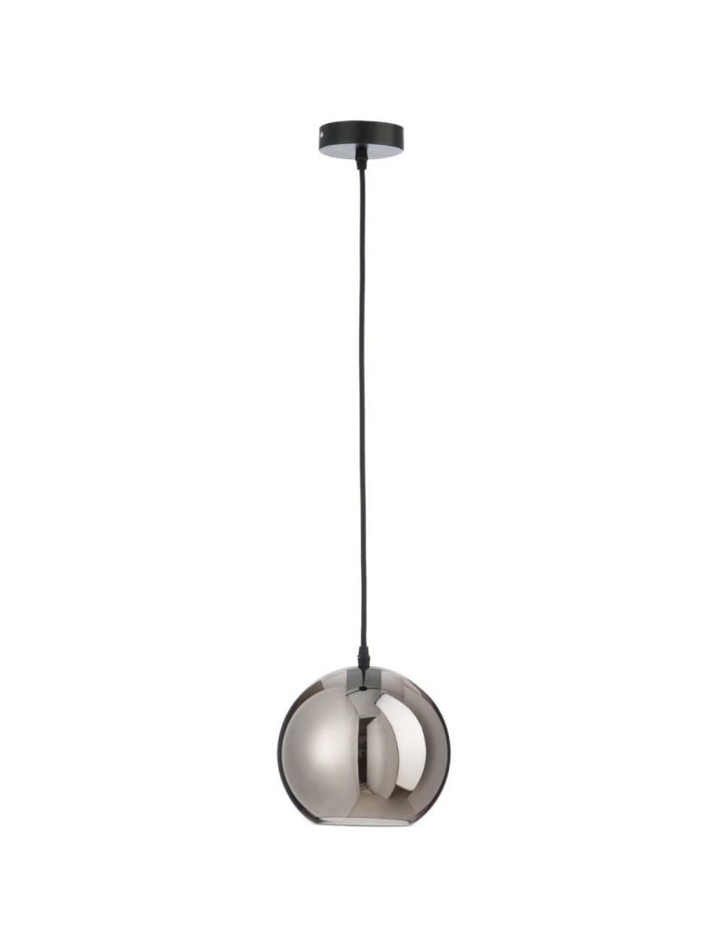 Lampe boule verre argent small