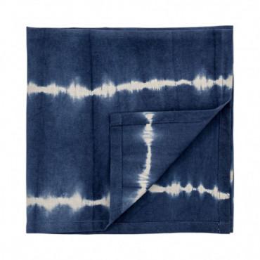 Serviette De Table Tissu Bleu Coton