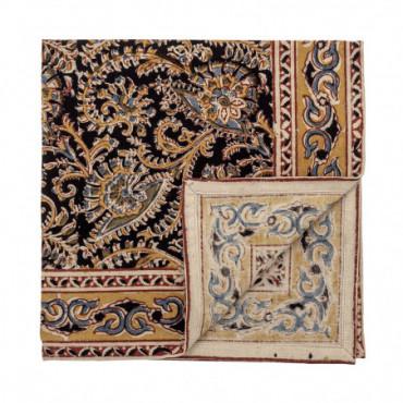 Serviette De Table Hasina Tissu Marron Coton