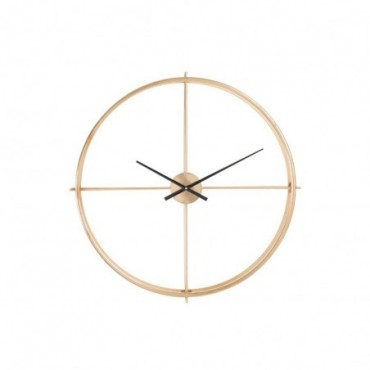 Horloge ronde metal or small