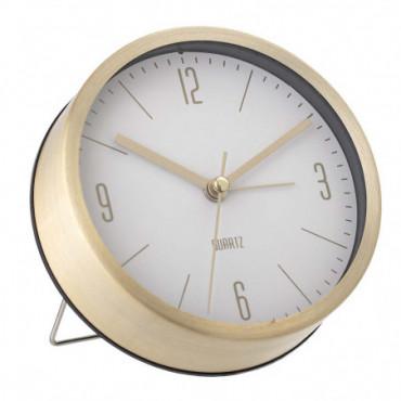Horloge De Table Or Aluminium