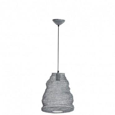 Lampe suspendue gaze metal gris fonce small