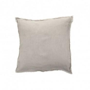 Coussin delave lin gris clair