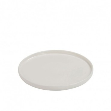 Assiette a dessert rebord porcelaine blanc