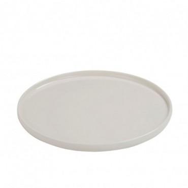 Assiette rebord porcelaine blanc