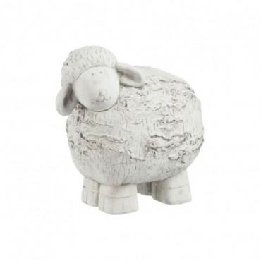 Mouton bouleau ciment gris large