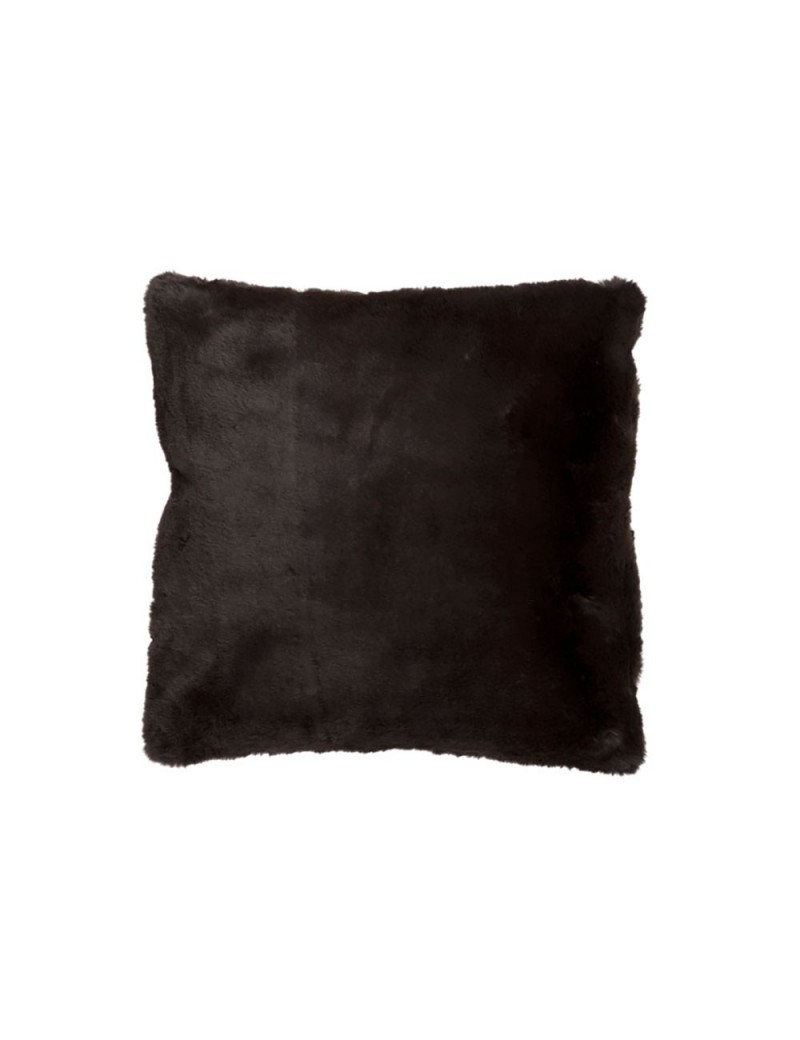 Coussin cutie polyester marron fonce