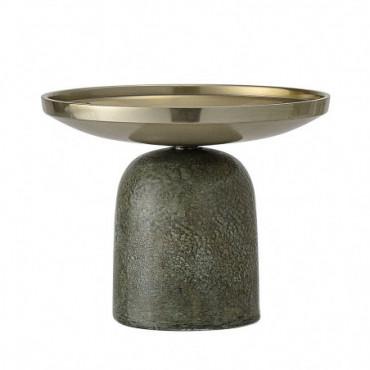 Bougeoir Vert Aluminium