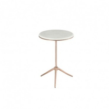 Table gigogne trepied fer marbre cuivre small