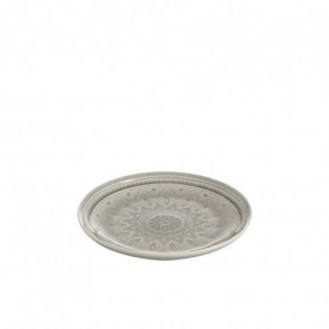 Assiette ceramique boho gris small