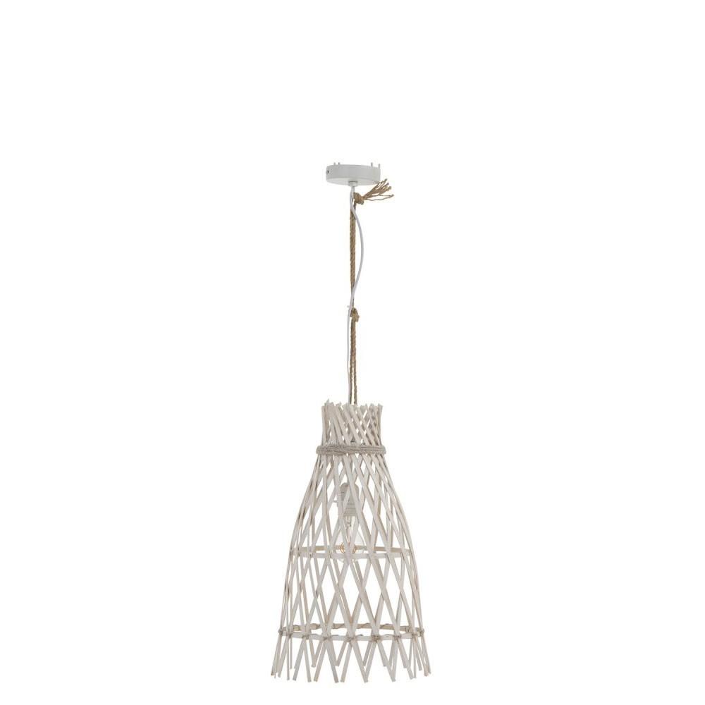 Lampe Suspendue Ibiza Bambou Blanc Small