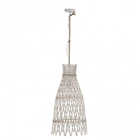 Lampe Suspendue Ibiza Bambou Blanc Large