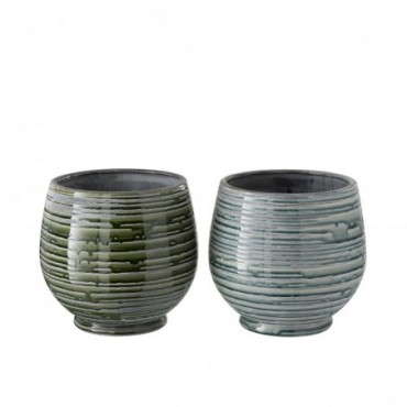 Cachepot ceramique vert large assortiment de 2