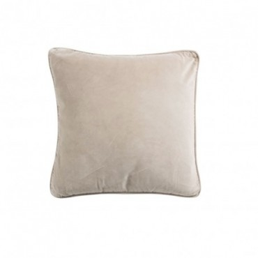 Coussin carre velours beige